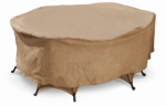 Budge Industries P5A01SF1-N Round Table/Chair Combo Cover, Tan