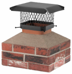 Hy-C SCC817 8x17 BLK Chimney Cover