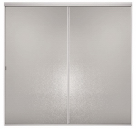 Sterling/Kinkead 695B-48S-G02 Sliding Bypass Shower Door, Silver Frame/Hammered, 65 x 42 to 48-In.