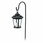 Northern International TV29960BK Solar Candle Lantern, With Hook