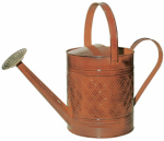 Robert Allen MPT01502 Watering Can, Metal, Orange, 2-Gals.