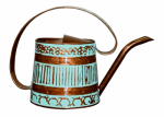 Robert Allen MPT01508 Watering Can, Metal, Teal & Copper, .5-Gal.
