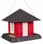 North State Ind 9093W Red Garden House Bird Feeder