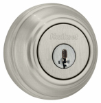 Kwikset 985 15 SMT CP K4 Signature Satin Nickel Double Cylinder Deadbolt With SmartKey