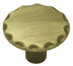 Brainerd Mfg Co/Liberty Hdw 69254 Cabinet Knob, Antique Brass Scallop Edge