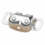 "Brainerd Mfg Co/Liberty Hdw C07400L-UC-U Cabinet Catch, ""C"" Clip, Double Roller, Zinc-Plated, 2-Pk."