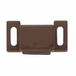 Brainerd Mfg Co/Liberty Hdw C08132L-BR-U1 Cabinet Catch With Strike, Magnetic, Brown, 10-Pk.