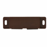 Brainerd Mfg Co/Liberty Hdw C08164C-BR-P Cabinet Catch With Strike, Double Magnetic, Brown