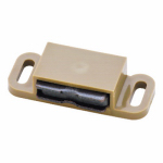Brainerd Mfg Co/Liberty Hdw C081P0L-T-U1 Cabinet Catch With Strike, Magnetic, Tan, 10-Pk.