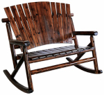 United General Supply TX93866 Double Rocking Chair, Solid-Wood