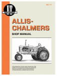 Haynes Manuals AC-11 Tractor Shop Manual, Allis-Chalmers
