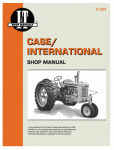 Haynes Manuals C-201 Tractor Shop Manual, Case Series