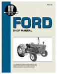 Haynes Manuals FO-31 Tractor Shop Manual, Ford Series 3-Cylinder