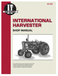 Haynes Manuals IH-201 Tractor Shop Manual, International Harvester Gas