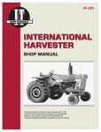 Haynes Manuals IH-203 Tractor Shop Manual, International Harvester Gas