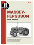 Haynes Manuals MF-14 Tractor Shop Manual, Massey Ferguson