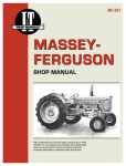 Haynes Manuals MF-201 Tractor Shop Manual, Massey Ferguson Gas