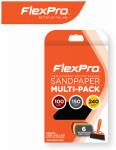 Flexpro Industries 400-06003 Sandpaper Assortment, 6-Ct.