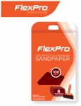 Flexpro Industries 400-06100 Sandpaper, 100-Grit, 6-Ct.