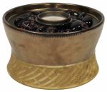 Lamplight Farms 1114152 Clean Burn Tabletop Torch, Ceramic, Bronze