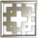 Globe Electric 8950301 LED D cor Square Night Light, Silver