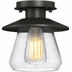 Globe Electric 64846 Semi-Flush Mount Pendant, Bronze