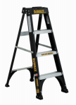Louisville Ladder DXL3110-04 Step Ladder, Type 1, Fiberglass, 4-Ft.