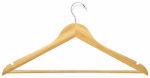 Honey Can Do Intl HNG-01206 Suit Hanger, Maple Finish, 4-Pk.