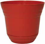 Robert Allen PIM01207 Traverse Planter/Saucer, Brick Red, 10-In.