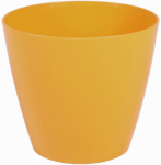 Robert Allen PIM01281 Charlevoix Plastic Planter, Harvest Yellow, 10-In.