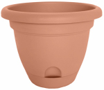 Bloem LP1046 Lucca Self-Watering Planter, Terra Cotta, 10-In.