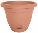 Bloem LP1646 Lucca Self-Watering Planter, Terra Cotta, 16-In.