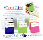Dm Merchandising CRD-CLNG Silicon Stick On Wallet