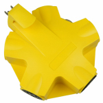 Kab Enterprise CT-043-1 5-Outlet Adapter, Yellow