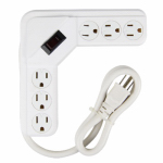 Kab Enterprise PS-644 Power Strip, 6-Outlet, White