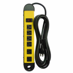 Kab Enterprise PS-678 Power Strip, 6-Outlet, Metal