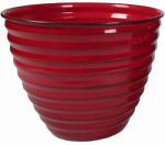 Robert Allen MPT01611 Avondale Planter, Red, 8-In.