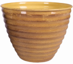Robert Allen MPT01612 Avondale Planter, Yellow, 10-In.