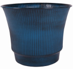 Robert Allen MPT01840 Madison Metal Planter, Blue, 8-In.