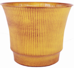 Robert Allen MPT01844 Madison Metal Planter, Yellow, 10-In.