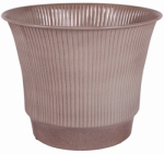 Robert Allen MPT01845 Madison Metal Planter, Tan, 12-In.