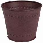 Robert Allen MPT01879 Marquis Metal Planter, Gray, 6-In.