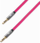 Lifeworks Technology Group IH-CT2500P Audio Cable, Male To Male, 3.5-mm, Pink, 5-Ft.