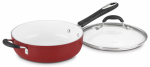 Cuisinart 5933-30HR Saut  Pan, Non-Stick, Red, 5.5-Qt.