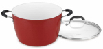 Cuisinart 5944-24R Stock Pot With Lid, Non-Stick, Red, 6-Qt.