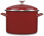 Cuisinart EOS106-28R Stock Pot With Lid, Non-Stick, Red, 10-Qt.
