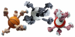 Multipet International 51073 Sport Ball/Rope Dog Toy