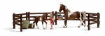 Schleich North America 21049 BRN Horse/FeedPlay Set