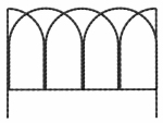 Panacea Products 89362 Garden Border Edge, Rustic Steel Wire, 14 x 20-In.