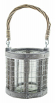 Syndicate Home & Garden 7753-12-9184 Wire/Glass Lantern Planter, 4.5-In.
